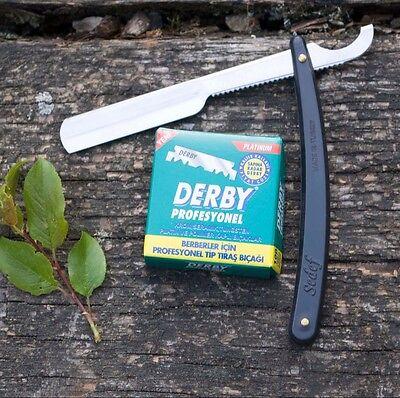 SEDEF USTURA Rasiermesser + 10 Rasierklingen der Marke Derby