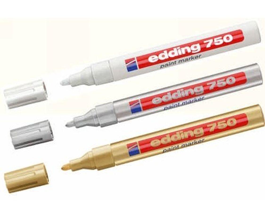 Lackmalstift Edding 750 Lackmarker Lackstift 2-4 mm 12 Farben  wählbar