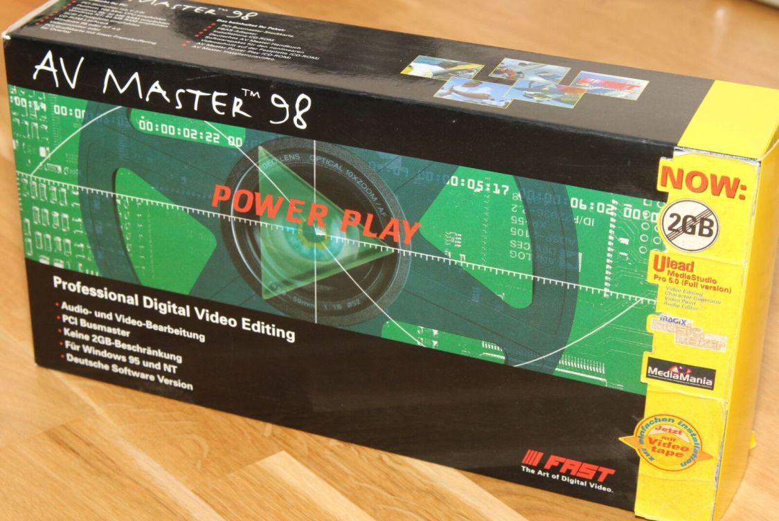 Fast AV Master 98 - analoge Videoschnittkarte PCI Video capture card - vintage