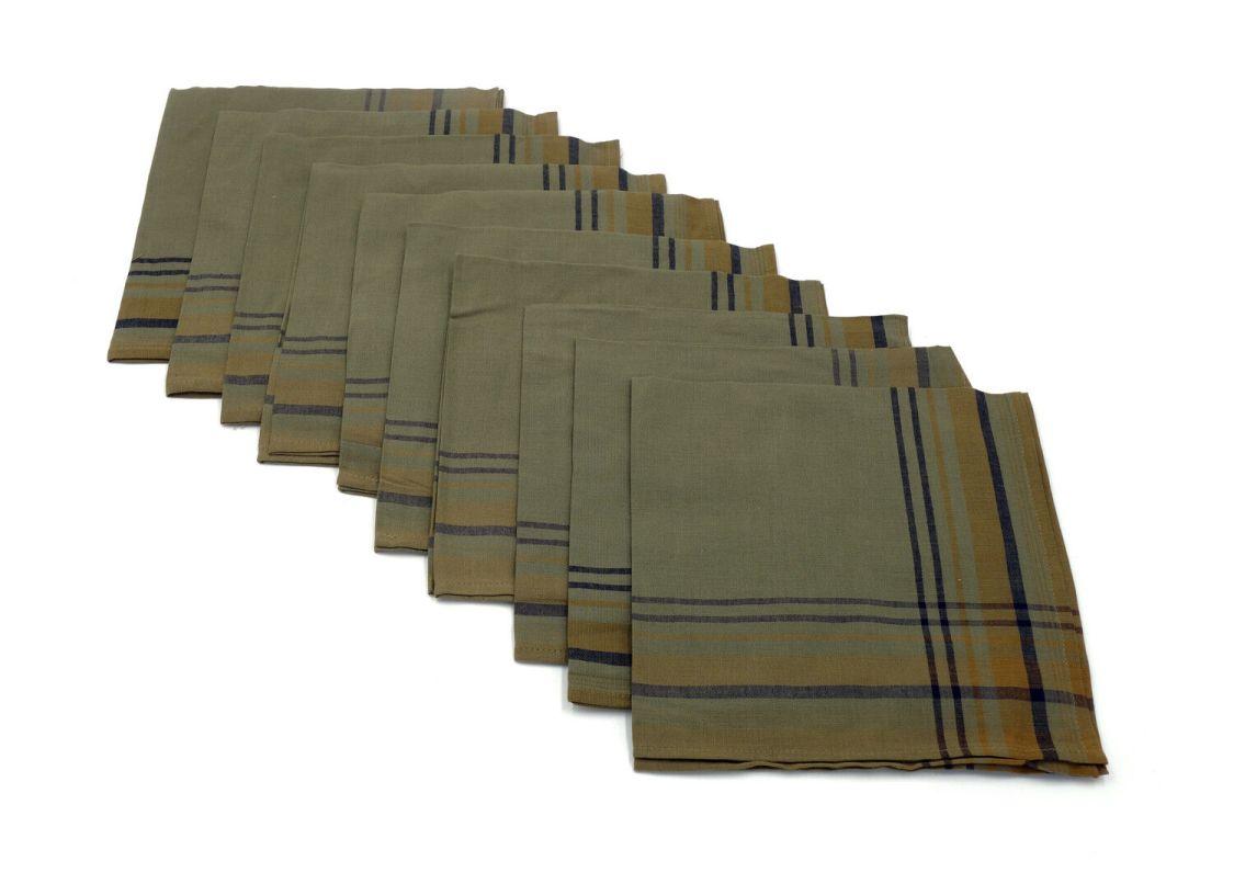 10 x Taschentücher Taschentuch Stoff Bundeswehr Baumwolle neu Original Stoff