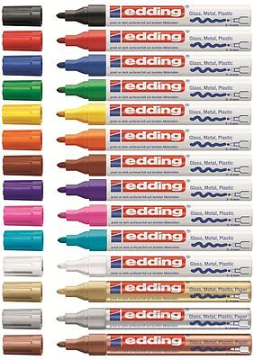 Edding 750 Lackmarker Creative Glanzlackmarker Lackstift Paint Marker 2-4mm! NEU