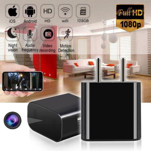 Mini WIFI Kabellos Sicherheit Kamera Spycam Wand Ladegerät USB Nachtsicht