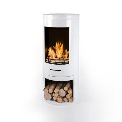 Bio Fires - Modern White Cylinder Bioethanol Stove