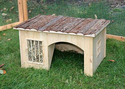 Nagerhaus mit Heuraufe Nature Hausenhaus Behausung Hase