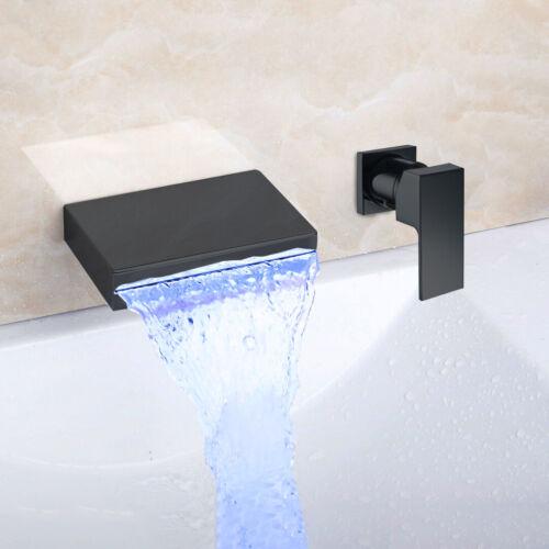 wall mounted waterfall bathroom faucet