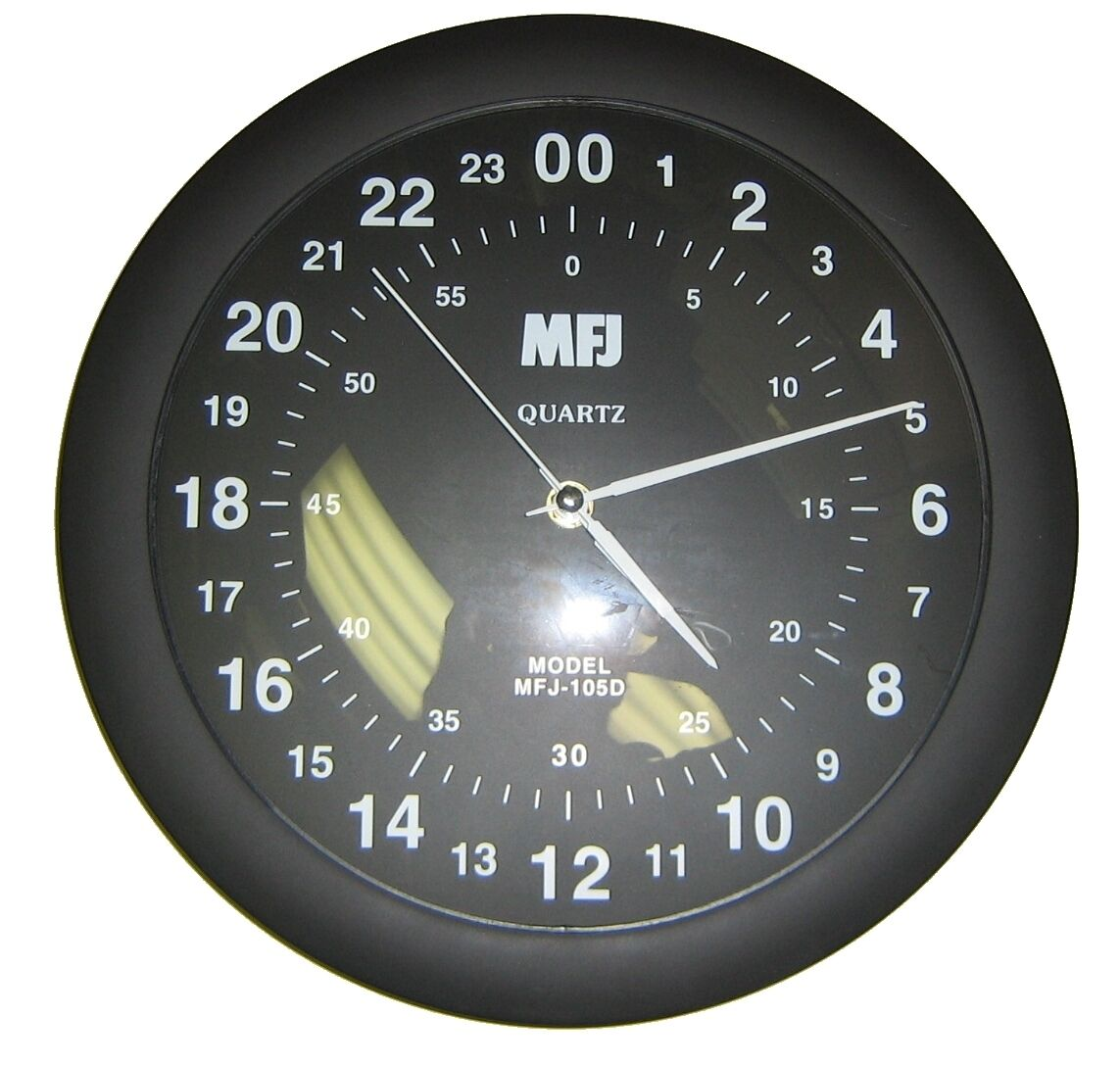 Mfj 105d 24 Hourog Quartz Wall Clock