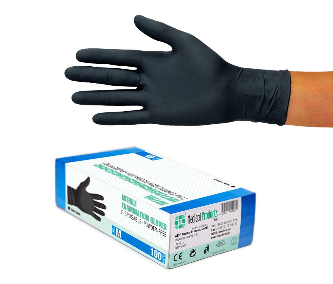 Nitrilhandschuhe Einweghandschuhe Einweghandschuhe S M L XL Weiß Blau schwarz