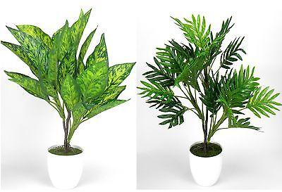 Kunstpflanze im Topf ca.40 cm Kunstblume Dekopflanze  Büropflanze Kunstgras NEU