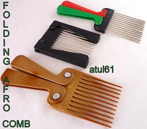 afro b metal teeth folding foldable colour handle hair brush bs new ebay