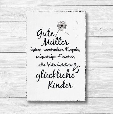 Holz Deko Schild Dekoschild Wandschild Shabby Geschenk GUTE MÜTTER 20 x 30 cm