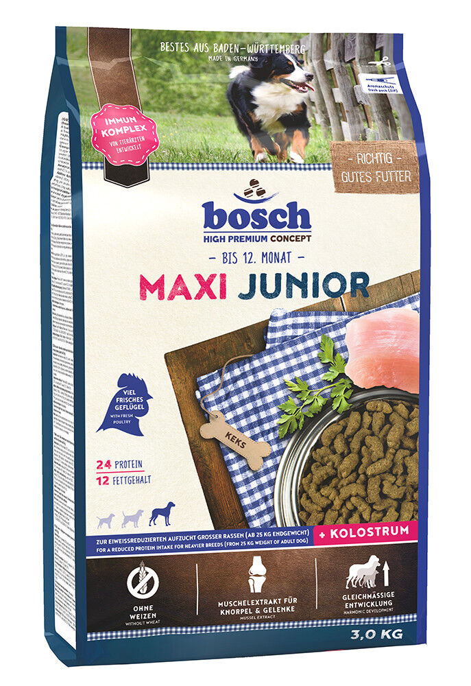 Bosch Maxi Junior 3 kg Welpenfutter für große Rassen Hundefutter Trockenfutter