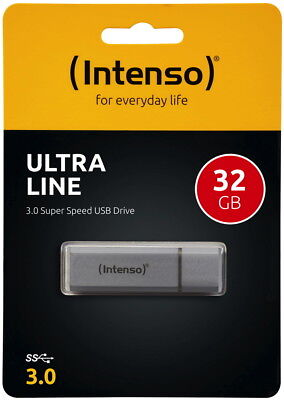 Intenso USB Stick 32GB Speicherstick Ultra Line silber USB 3.0