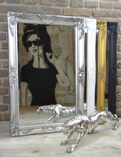 Wandspiegel Badspiegel Spiegel 90 x 60 cm barock antik Landhaus pompös rokoko