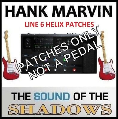 LINE 6 HELIX ART D'ECHO that 60s RED STRAT Echo Sound PATCHES a