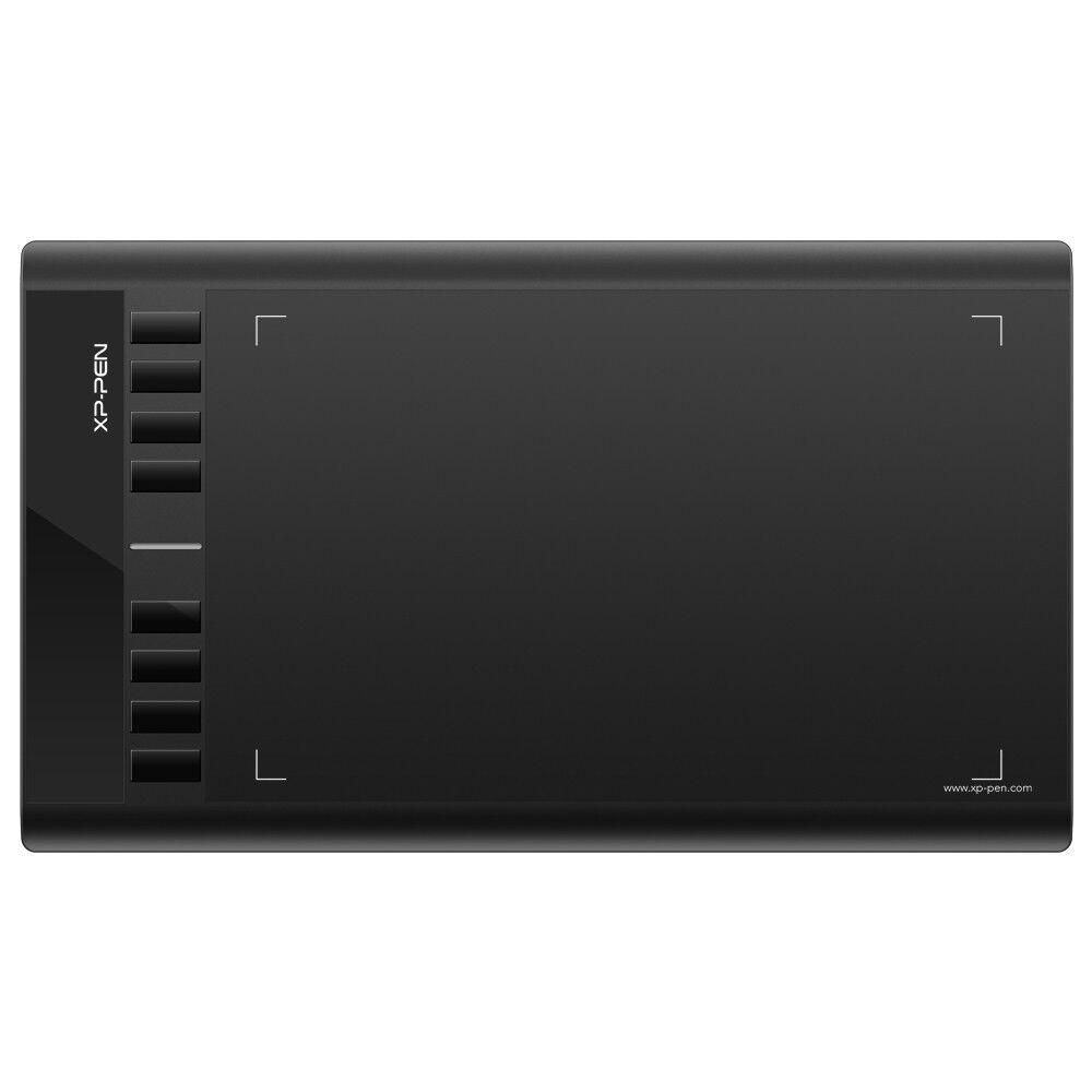 XP-Pen Star 03 10x6 Grafiktablett Pen Tablet mit 8 Schnellzugriffstasten Schwarz