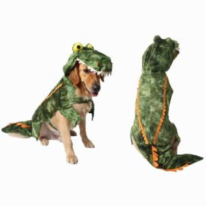 Crocodile Costume Pet Dog Clothes Halloween Winter Jumpsuit Jacket Coat All Size