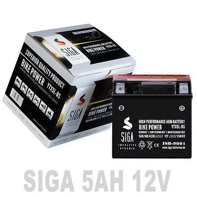 AGM Motorrad Batterie YTX5L-BS 5Ah 12V 100A/EN Quad Roller Motorradbatterie