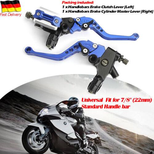 Paar Motorrad Bremshebel Bremszylinder Kupplungshebel Bremspumpe 7/8