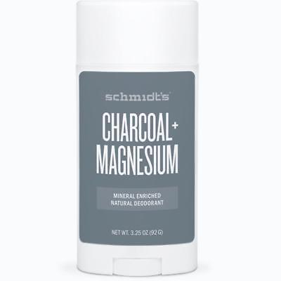 Schmidt's Natural Deodorant Stick Mineral Enriched Charcoal + Magnesium, 3.25 oz
