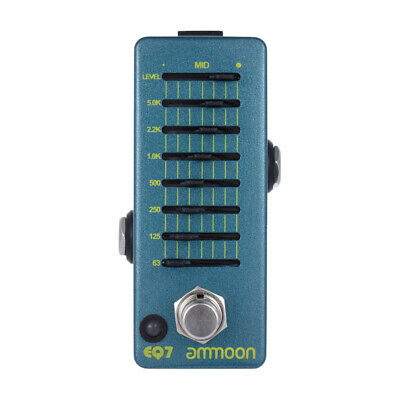 ammoon Guitar Equalizer Effect Pedal 7-Band EQ Alloy Body True Bypass S5E5