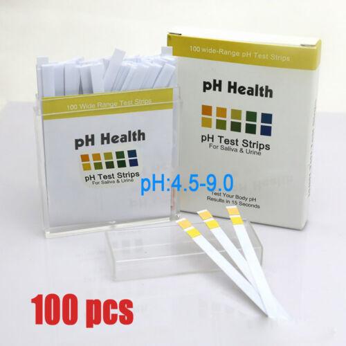 Neu100 Stück pH Teststreifen Urin & Speichel   pH Indikator BY 4.5-9.0pH