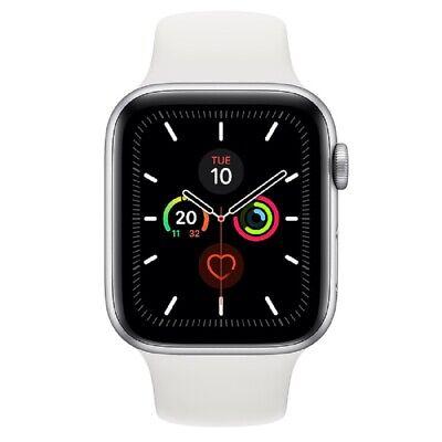 Apple Watch Series 5 GPS 44mm MWVD2 Silver Aluminum White Box Sport Band