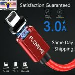 FLOVEME Magnetic Charger Lighting Micro USB Type-C Data Cable For iPhone Android
