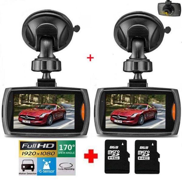 "2 Pack 2.4"" 1080P HD Car DVR Vehicle Camera Video Recorder Dash Cam Night Vision"