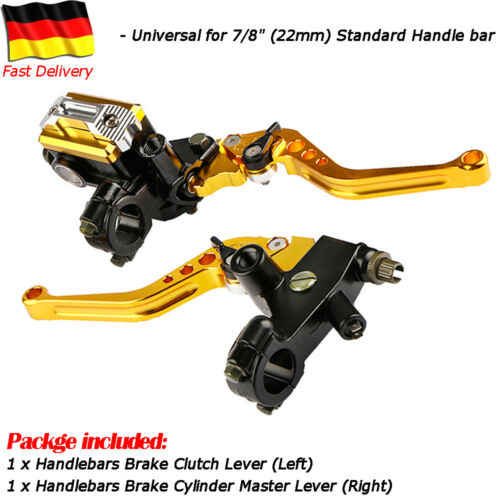 Paar Bremshebel Bremsgriffe Griffe Hebel Für 22mm CNC Fahrrad Motorrad Rennrad