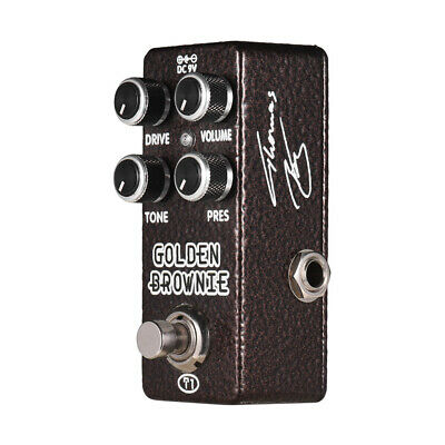 XVIVE T1 GOLDEN BROWNIE Distortion Guitar Effect Pedal Full Metal Shell I4T6