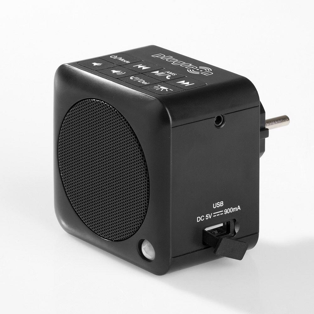 Steckdosenradio, Bluetooth Box / NFC / UKW Radio, 30 Watt / schwarz / Nachtlicht