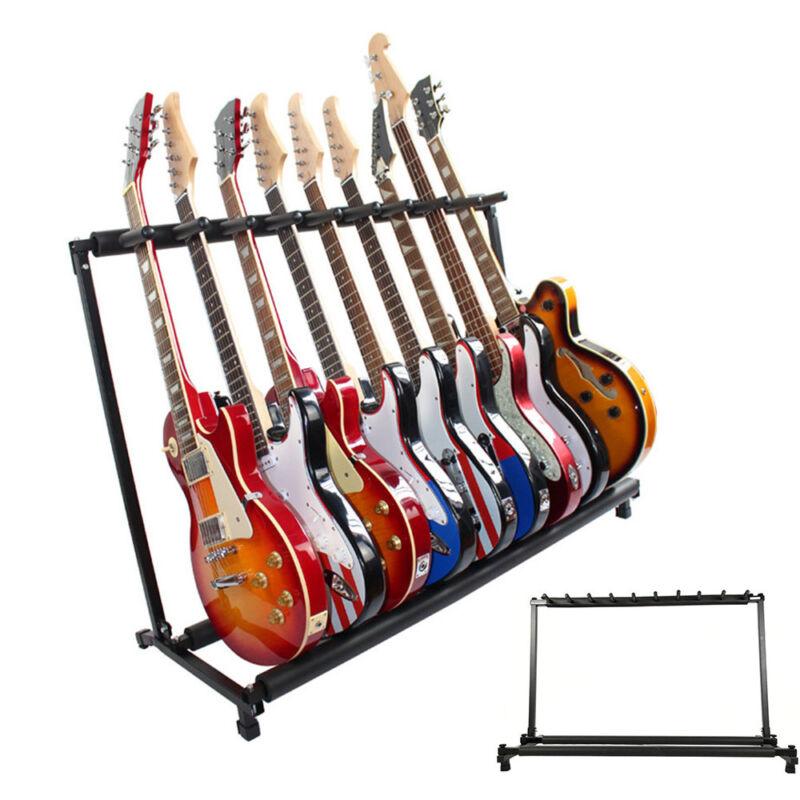 9 Gruppen Gitarrenständer Mehrfachständer Edelstahl Electric Gitarrenständer TR