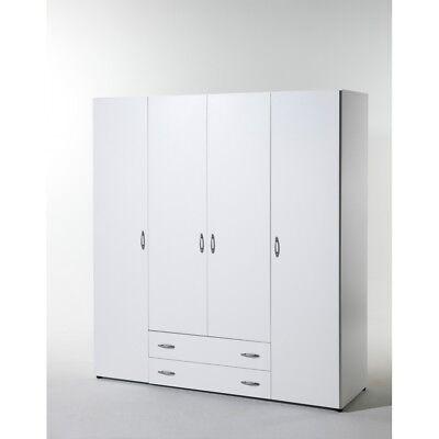 Kleiderschrank Jugendzimmerschrank Stauraumschrank 160 cm 58-124-17 BASE 4 Weiß