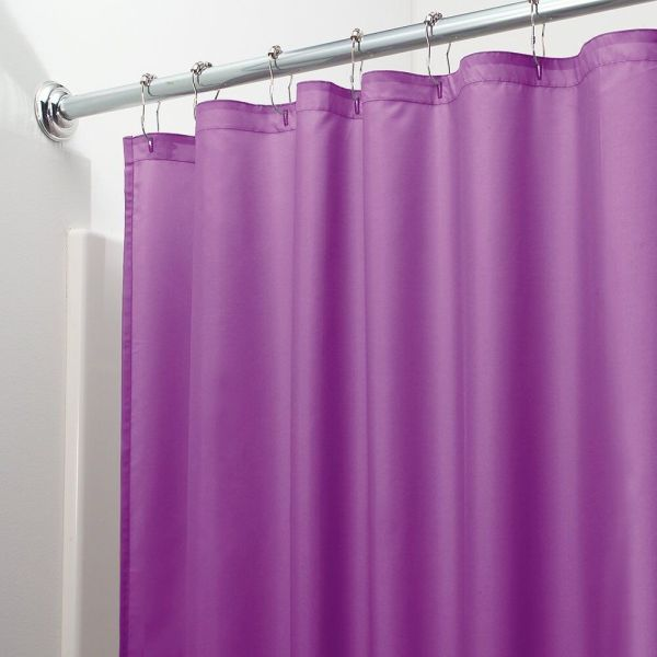 HEAVY DUTY MILDEW FREE VINYL WATERPROOF SHOWER CURTAIN LINER WITH MAGNETS NEW 11