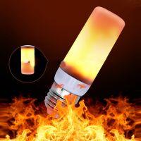 1x LED Licht Fackel Feuer Lampe Flammen Effekt Glühbirne ...