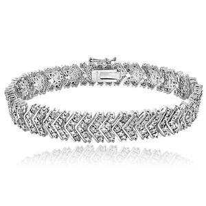 1 Carat TDW Diamond Chevron Bracelet