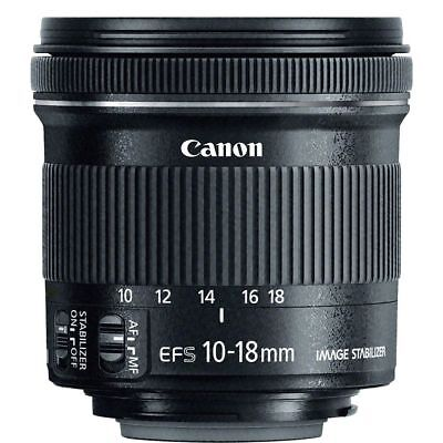 Canon EF-S 10-18mm f/4.5-5.6 IS STM Lens for DSLR Camera Bodies