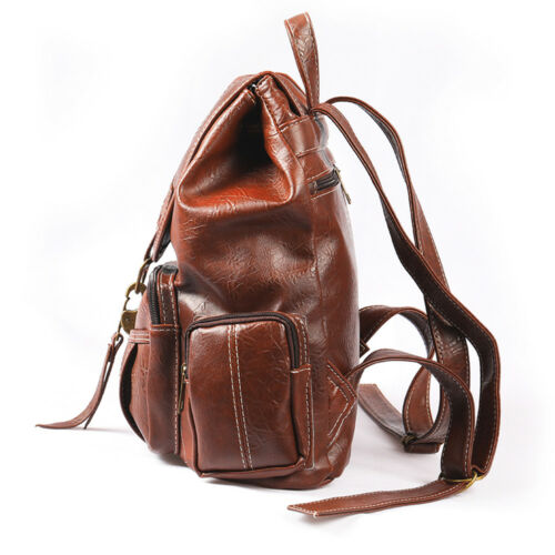 Vintage Womens Leather Backpack Shoulder School Shoulder Satchel HandBag Travel 2