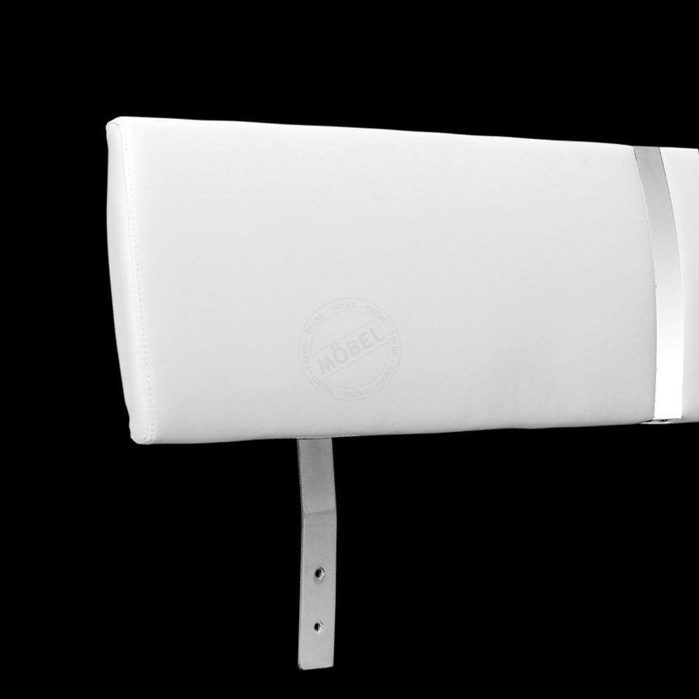Kopfteil LUMA 140-160cm weiß Bettkopfteil Kunstleder