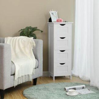 4 Chest of Drawers Bedroom Dressers Storage Organizer Bathroom Furniture