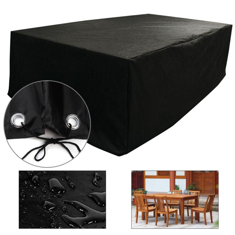 Schwarz Abdeckung Schutzhülle für Gartenmöbel Abdeckplane Abdeckhaube 1 Große