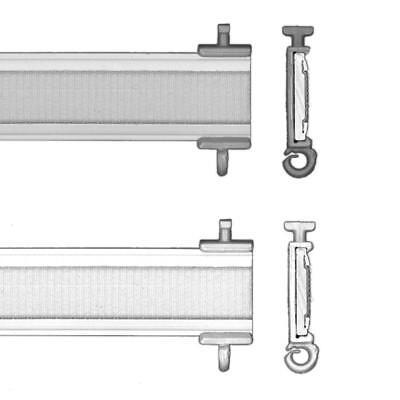 Paneelwagen auf Maß für Flächenvorhang aluminium acryl Flächen Gardine
