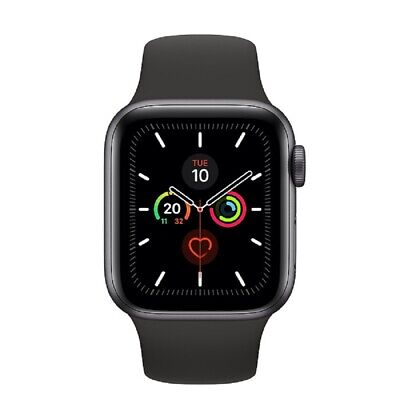 Apple Watch Series 5 GPS 40mm MWV82 Gray Aluminum Caja Negro Sport Band