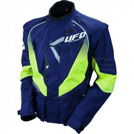 Giacca Ufo per moto offroad cross enduro Blu/Giallo
