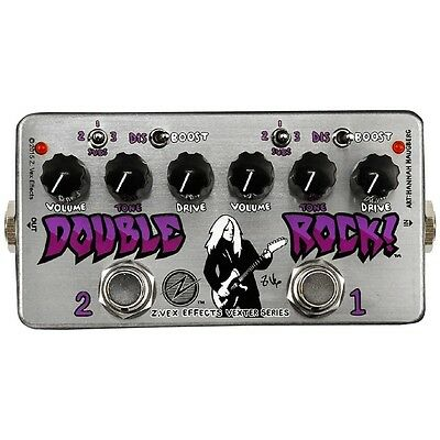 ZVEX Double Rock Vexter Series Dual Distortion/Boost Guitar Pedal w/ SUBS Switch
