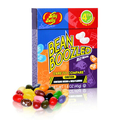 4x Jelly Belly Bean Boozled Jelly Beans Flip Top Box 45g 4th Generation Box