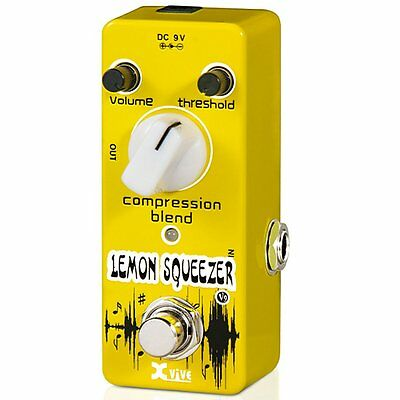 Xvive V9 Mini Lemon Squeezer Compressor Effects Pedal, XV9
