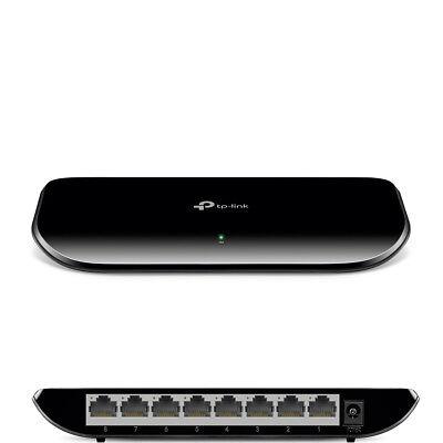 TP-LINK TL-SG1008D 8 Port Gigabit DSL LAN Hub Netzwerk Switch RJ-45 10/100/1000