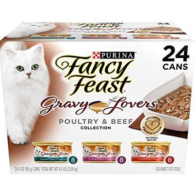 Purina Fancy Feast Gravy Lovers Gourmet Wet Cat Food - (24) 3 Oz. Cans