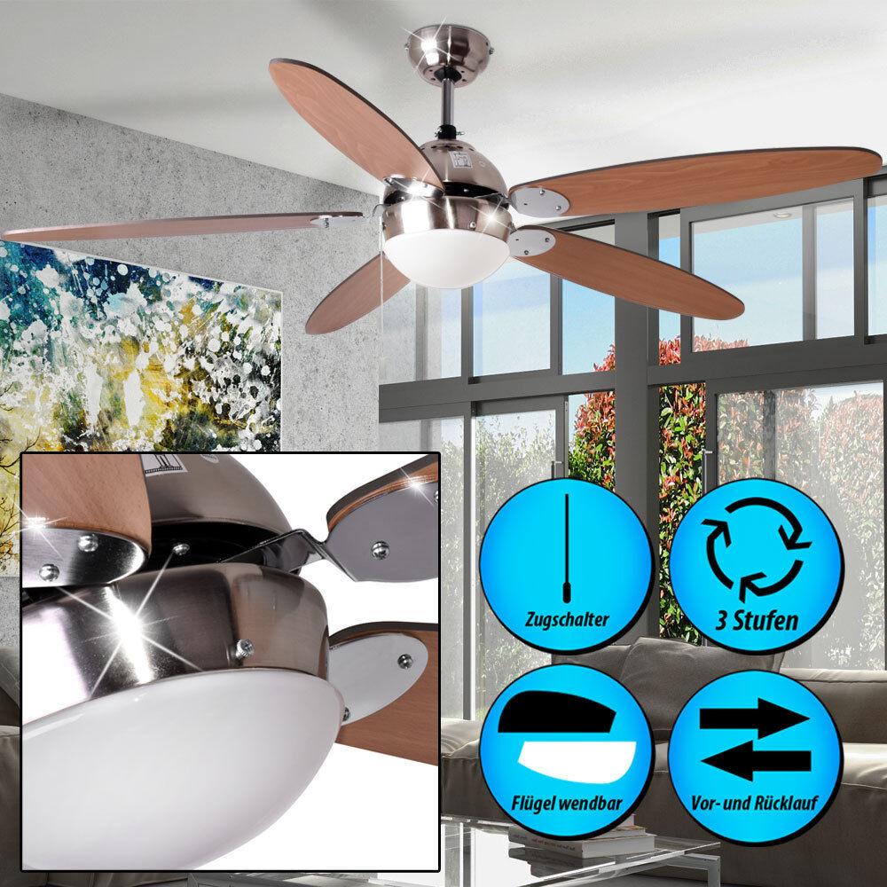 Decken Ventilator mit Zugschalter 132 cm Beleuchtung LEISER Küchen Wind Kühler